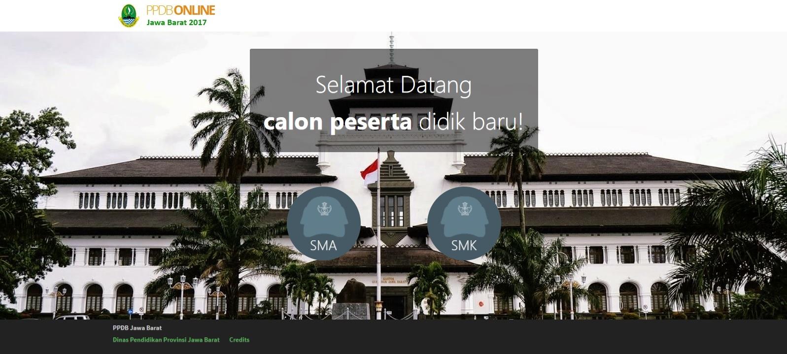 Home Website PPDB Online Jawa Barat 2017